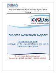 2017 Market Research Report on Global Yogurt Makers Industry.pdf