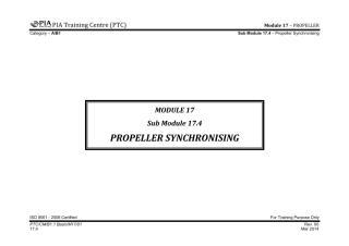 PTC B1.1 Notes - Sub Module 17.4 (Propeller Synchronising).pdf