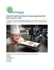 Global 3D Food Printers Market Forecast.pdf