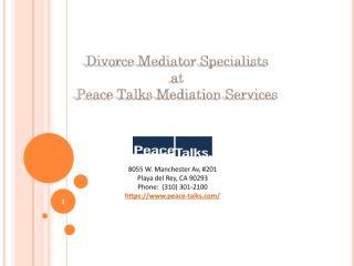 Divorce Mediator Specialists Playa del Rey.pdf