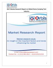 2017 Market Research Report on Global Dome Camping Tent Industry.pdf