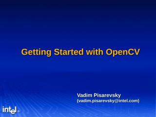 OpenCV_2005Q4_tutorial.ppt
