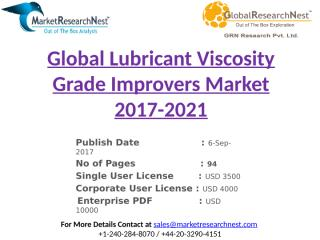 Global Lubricant Viscosity Grade Improvers Market 2017-2021.pptx
