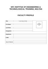 Faculty Profile Form.doc