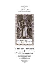 São Tomás de Aquino e a Crise Contemporânea.pdf