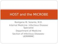 HOST and the MICROBE.ppt