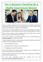 Get a Business Coaching By a Highly Experienced Mentor.pdf