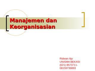 Manajemen dan Keorganisasian black.ppt