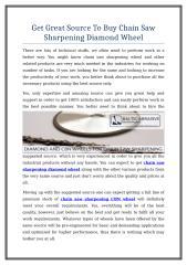 Get Great Source To Buy Chain Saw Sharpening Diamond Wheel.doc