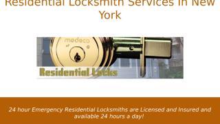 Residential Locksmith Services In New York.pptx