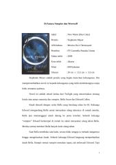 Bahasa Indonesia - Resensi Novel New Moon.doc
