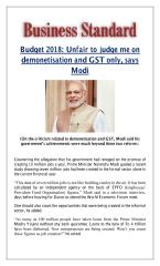 Budget 2018  Unfair to judge me on demonetisation and GST only  says Modi.pdf