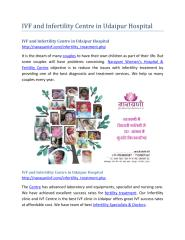 IVF and Infertility Centre in Udaipur Hospital.pdf