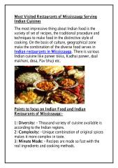 Most Visited Restaurants of Mississauga Serving Indian Cuisines.pdf