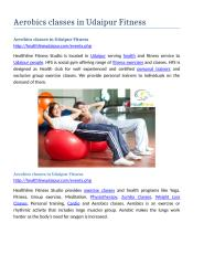 Aerobics classes in udaipur Fitness.docx