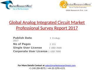 Global Analog Integrated Circuit Market Professional Survey Report 2017.pptx