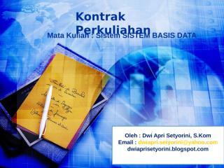 Kontrak Kuliah SBD.ppt