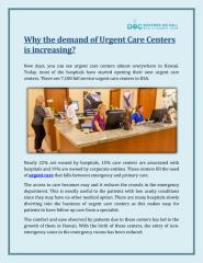 Why The Demand Of Urgent Care Centers Is Increasing - Doctors On Call MAUI.pdf
