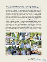 How to Plan Memorable Morning Wedding.pdf