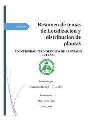 Localizacion y Distribucion de Plantas - Resumen (Autosaved).docx