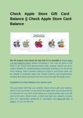 Check Apple Store Gift Card Balance __ Check Apple Store Card Balance-converted.pptx