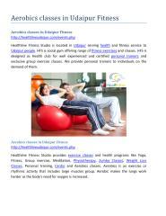 Aerobics classes in udaipur Fitness.pdf