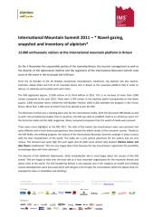 International Mountain Summit 2011 - 12.000 visitors at the 3rd edition.pdf